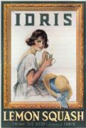 Vintage decor art Advertising Poster Canvas UK Idris Lemon Squash 1920